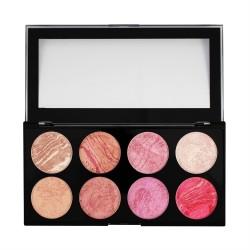 Makeup Revolution Ultra Blush Palette 8 Zestaw róży do policzków Blush Queen 13g