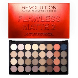 Makeup Revolution Ultra Palette 32 Zestaw cieni do powiek Flawless Matte 2  16g (32 kolory)