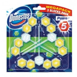 Domestos Lime TRIO Kostka WC Power 5 koszyk  3x 55g