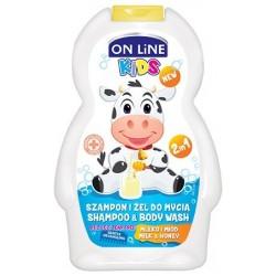 On Line Kids Szampon 2w1 Mleko i miód  250ml