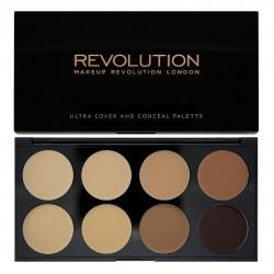 Makeup Revolution Ultra Cover and Concealer Palette Korektory Medium-Dark  10g