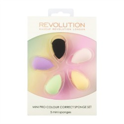 Makeup Revolution Mini Pro Colour Correct Sponge Set Zestaw mini gąbek do makijażu  1op.