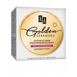 AA Golden Ceramides Odżywczy Krem przeciwzmarszczkowy na dzień - cera sucha i normalna  50ml