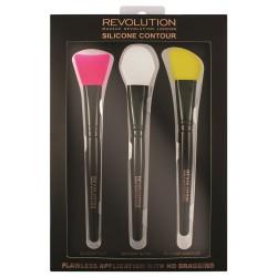 Makeup Revolution Silicone Contour Zestaw Pędzli silikonowych do konturowania  1op.-3szt