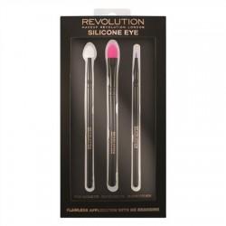 Makeup Revolution Silicone Eye Zestaw Pędzli silikonowych do cieni  1op.-3szt