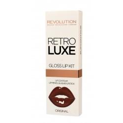 Makeup Revolution Retro Luxe Gloss Lip Kit Zestaw do ust (konturówka +błyszczyk) Original  1op.