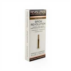 Makeup Revolution Brow Revolution Żel do brwi Soft Brown  3.8g