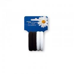 Top Choice Gumki do włosów białe i czarne 1op.-4szt