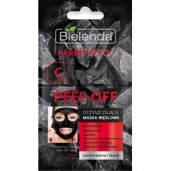 Bielenda Carbo Detox Czarny Węgiel Maska oczyszczająca peel-off  2x6g