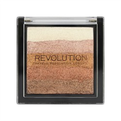 Makeup Revolution Vivid Shimmer Brick - Bronze Kiss Paletka bronzerów i rozświetlaczy 7g
