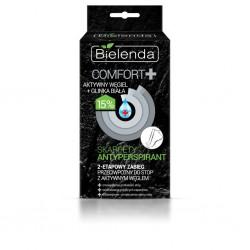 Bielenda Comfort + Zabieg 2-etapowy do stóp z aktywnym węglem - skarpety antyperspirant