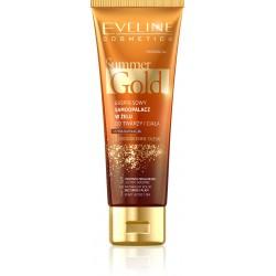 Eveline Summer Gold Samoopalacz w żelu 3w1 do twarzy i ciała - ciemna karnacja  100ml