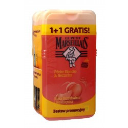 Le Petit Marseillais Żel pod prysznic Biała Brzoskwinia i Nektarynka 1+1 gratis (250mlx2)