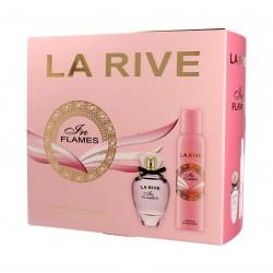 La Rive for Woman In Flames Zestaw prezentowy (woda perfumowana 90ml+deo spray 150ml)