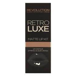 Makeup Revolution Retro Luxe Matte Lip Kits Zestaw do ust (konturówka +błyszczyk) Magnificent  1op.
