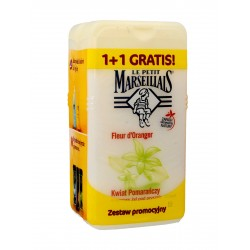 Le Petit Marseillais Żel pod prysznic Kwiat Pomarańczy 1+1 gratis (250mlx2)