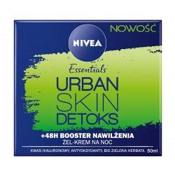 Nivea Essentials Urban Skin Detoks Krem-żel na noc Booster Nawilżenia   50ml