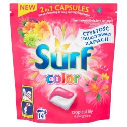 Surf Color Kapsułki do prania 2in1 Tropikalna Lilia & Ylang Ylang  1op.-14szt