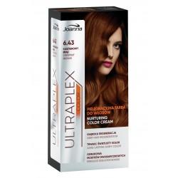Joanna Ultraplex Color Farba pielęgnacyjna do włosów nr 6.43 Kasztanowy Brąz