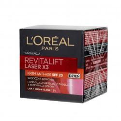Loreal REVITALIFT LASER X3 Krem przeciwzmarszczkowy SPF20 na dzień  50ml