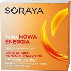 Soraya Taurynowa Energia Wake-Up Krem na młode zmarszczki na dzień i noc -c.sucha i wrażliwa  50ml