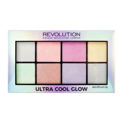 Makeup Revolution Ultra Cool Glow Palette Zestaw rozświetlaczy