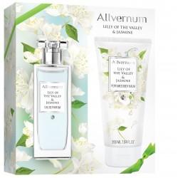 Allvernum Zestaw prezentowy Lily Of The Valley & Jasmine (woda perf.50ml+balsam d/ciała 200ml)