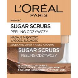 Loreal Sugar Scrubs Peeling do twarzy odżywczy 3 cukry+masło kakaowe  50ml
