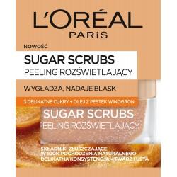 Loreal Sugar Scrubs Peeling do twarzy rozświetlający 3 cukry+olej z pestek winogron  50ml