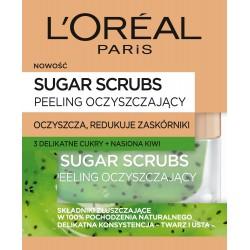 Loreal Sugar Scrubs Peeling do twarzy oczyszczający 3 cukry+nasiona kiwi  50ml