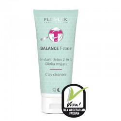 Floslek Balance T-Zone Glinka myjąca Instant Detox 2w1 do cery mieszanej  125ml