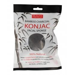 Beauty Formulas Charcoal Gąbka bambusowa do mycia twarzy z aktywnym węglem