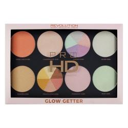 Makeup Revolution paleta rozświetlaczy do twarzy Pro HD Palette Glow Getter, 1 szt.