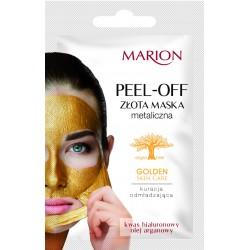 Marion Golden Skin Care Złota maska metaliczna na twarz peel-off  6g