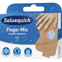 Salvequick Plastry Finger Mix  1op.-18szt