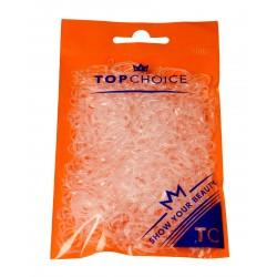 Top Choice Gumki do upinania włosów transparentne (22715)  1 op.-500szt