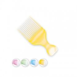 Top Choice Grzebień do włosów Colour Afro - mix kolorów (60403)  1szt