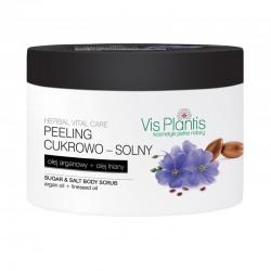 Vis Plantis Herbal Vital Care Peeling cukrowo-solny do ciała Olej Arganowy + Olej Lniany  200ml