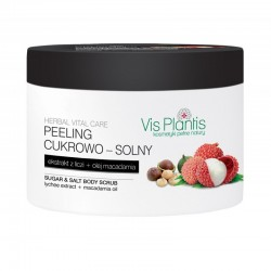 Vis Plantis Herbal Vital Care Peeling cukrowo-solny do ciała Ekstrakt z Liczi + Olej Macadamia  200ml