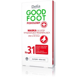 Delia Cosmetics Good Foot Podology Nr 3.1 Maska wygładzająco-regenerująca do stóp+skarpety  10ml