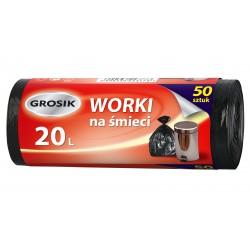 Sarantis Jan Niezbędny Grosik Worki na śmieci 20L  1op-50szt