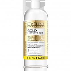 Eveline Gold Lift Expert Luksusowy Przeciwzmarszczkowy Płyn micelarny 3w1  500ml