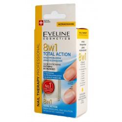 Eveline Nail Therapy Lakier odżywka do paznokci 8w1 Total Action 12ml