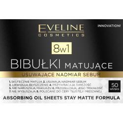 Eveline Bibułki matujące 8w1 do twarzy  1op.-50szt