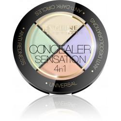 Eveline Concealer Sensation Zestaw korektorów do twarzy 4w1  4.4g