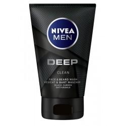 NIVEA MEN Żel d/mycia twarzy i zarostu Deep Clean  100ml&