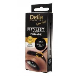 Delia Cosmetics Eyebrow Expert Pomada do brwi Grafit  1szt