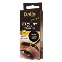 Delia Cosmetics Eyebrow Expert Pomada do brwi Ciemny Brąz 1szt