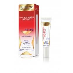 Perfecta Multi-Kolagen Retinol 40+/50+ Krem redukujący cienie i wygładzający pod oczy i na powieki  15ml