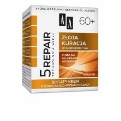 AA Technologia Wieku 5Repair 60+ Złota Kuracja Krem ujędrniająco-wzmacniający na twarz,szyję i dekolt  50ml